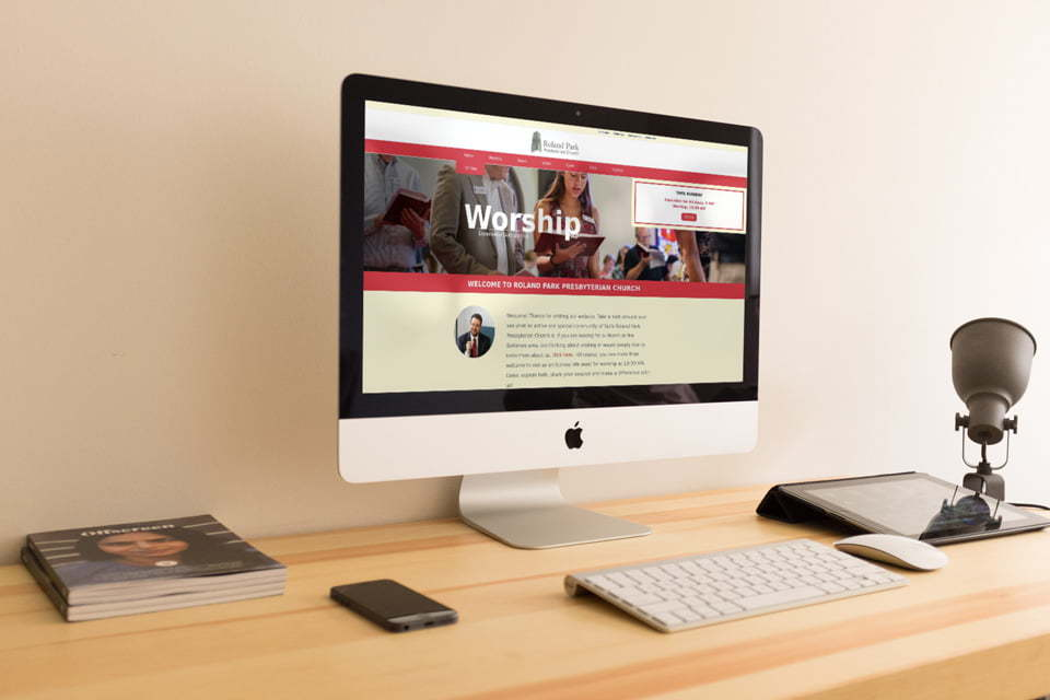 Website developed for Baltimore Church